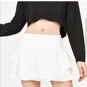 ZARA Ruffle Mini Skirt / Skort 💃🏽